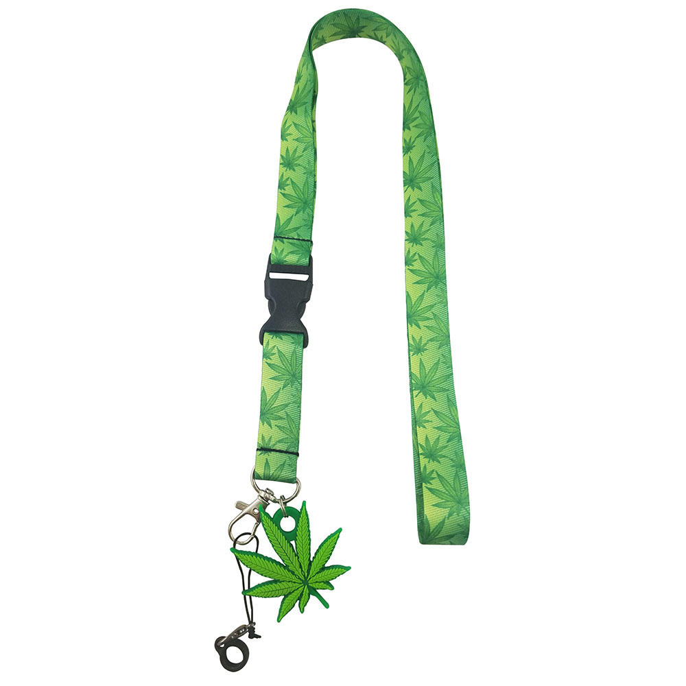 Pot Leaf Lanyard with Clip