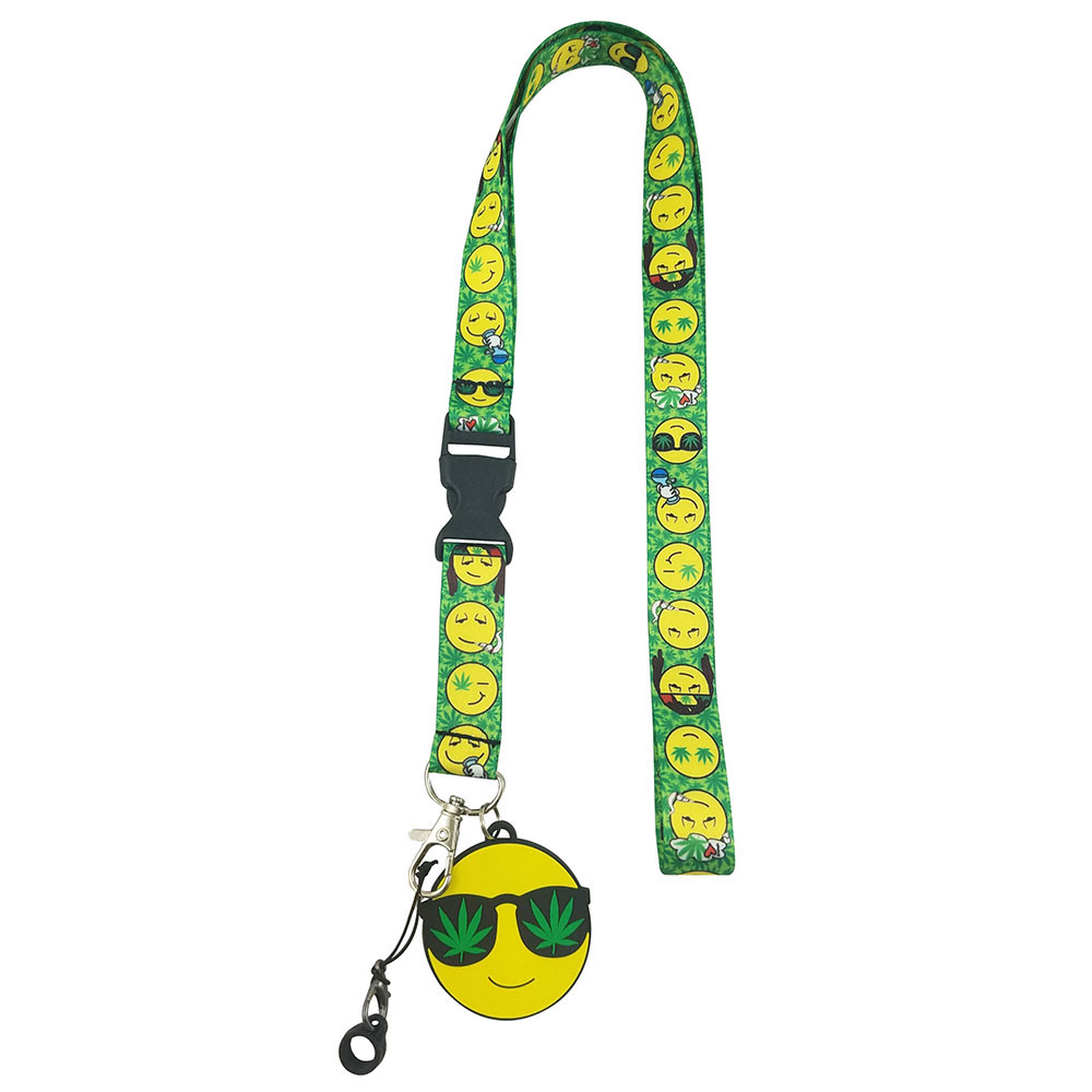 Emoji Pot Leaf Lanyard