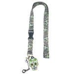 Sugar Skull Pot Leaf Lanyard