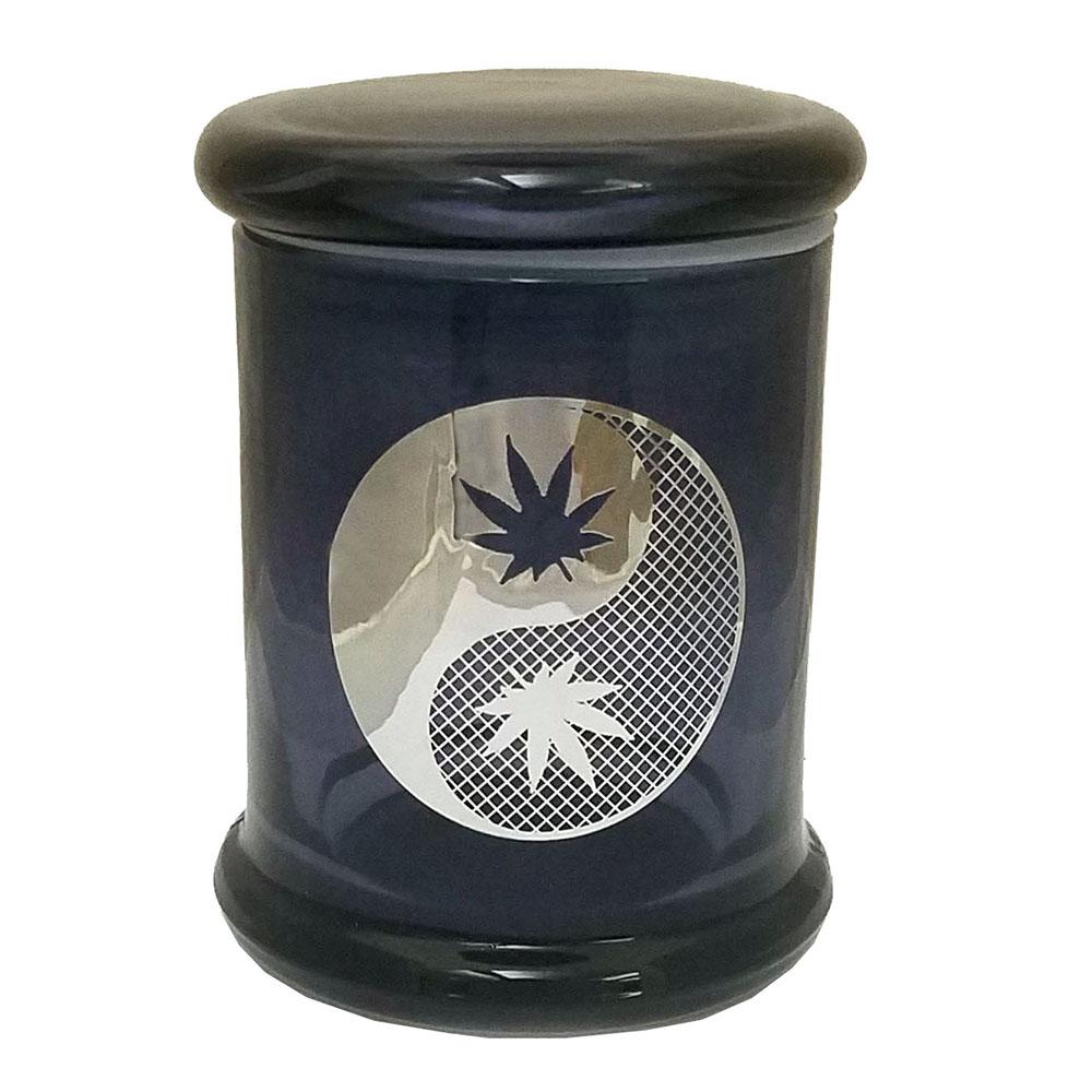 Marijuana Stash Jar Yin Yang