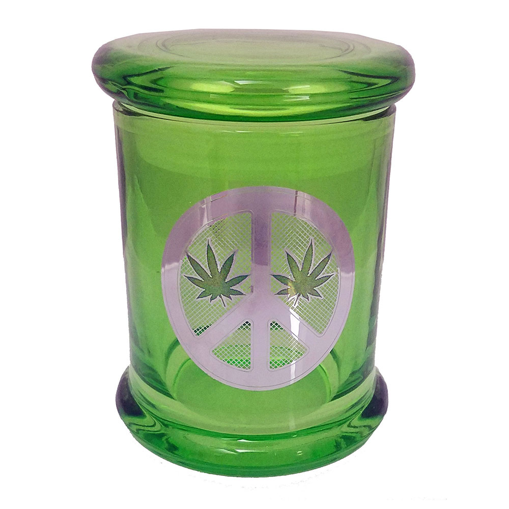 Marijuana Stash Jar Peace Sign