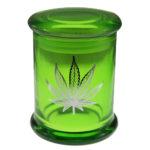 Marijuana Stash Jar Pot Leaf