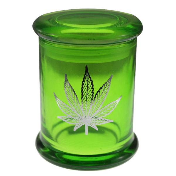Pot Leaf Stash Jar
