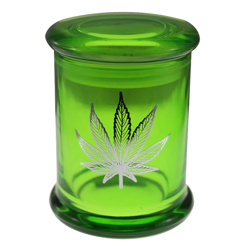 Marijuana Stash Jar Pot Leaf