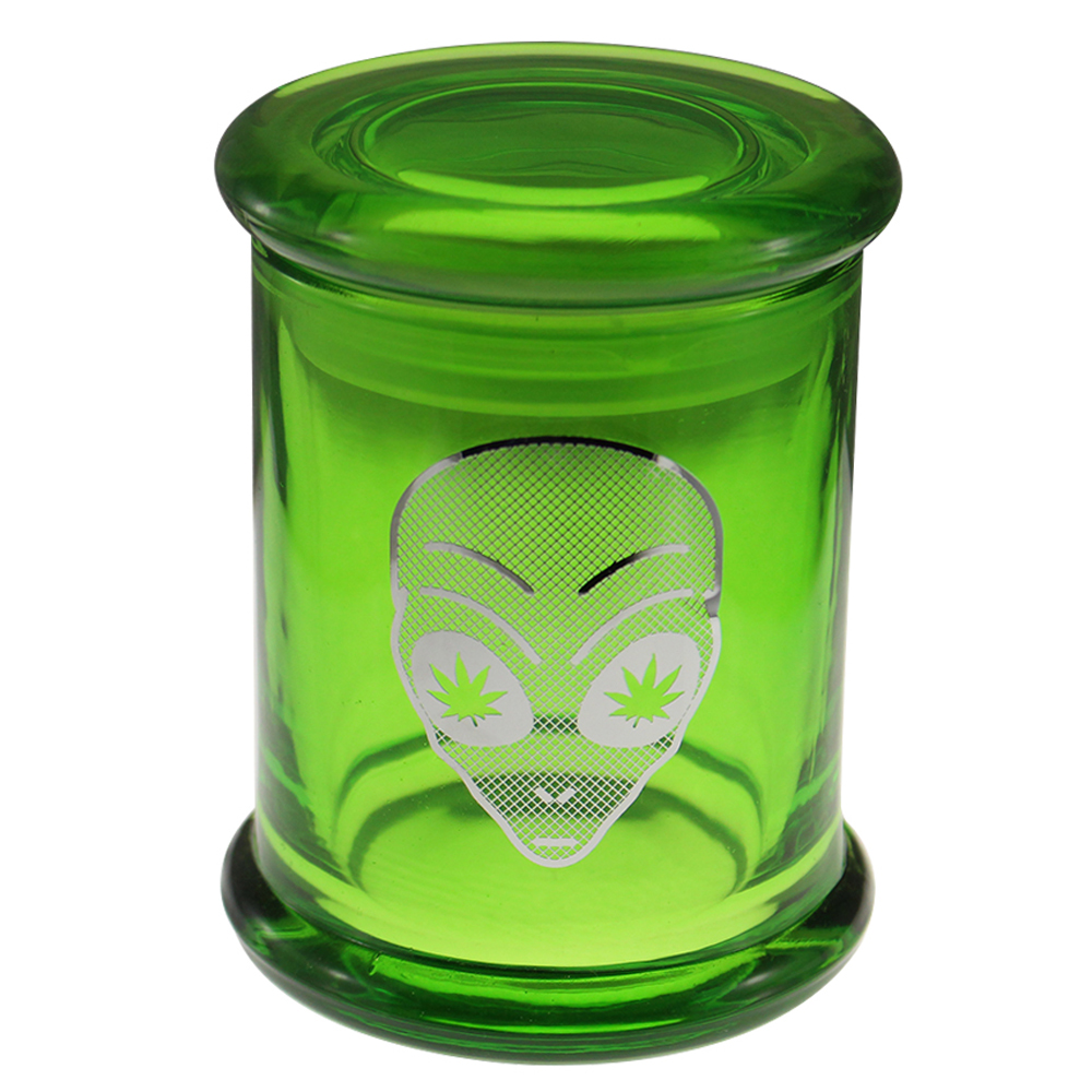 Marijuana Stash Jar Alien