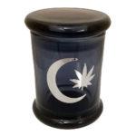 Marijuana Stash Jar Moon and Leaf