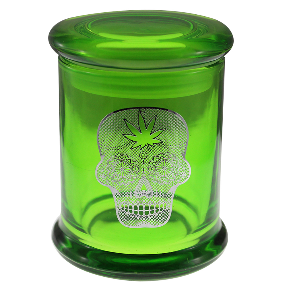 Marijuana Stash Jar Sugar Skull